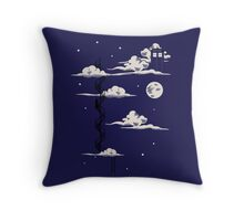 He lives on a cloud in the sky Throw Pillow