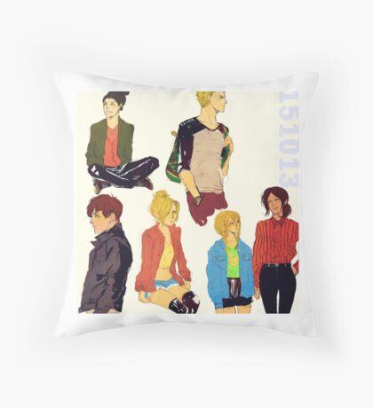 shingeki no kyojin modern day / pillow 01 Throw Pillow
