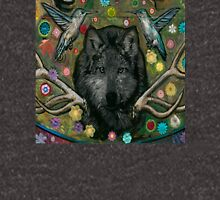 Wolf with hummingbirds Unisex T-Shirt