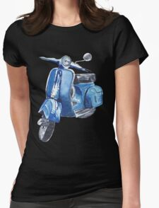 Blue Vespa Womens Fitted T-Shirt