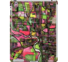 Abstract Map of Columbus OH iPad Case/Skin