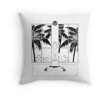 Yoga BW Throw Pillow