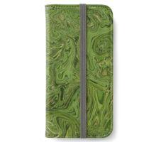 Swirling Green Pattern iPhone Wallet/Case/Skin