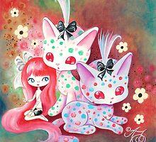 Spotted Kitties by TenshiNoYume