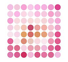 Pink Polka Dot Pattern On White - 1 of 2 (see description) by Ra12