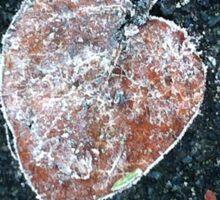 Frosted fallen leaf Sticker