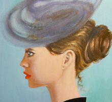 Lady in a whimsical hat by Dian Bernardo