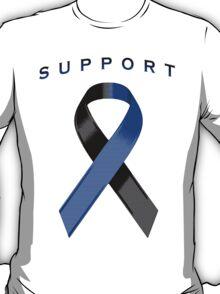 Black & Blue Awareness Ribbon of Support T-Shirt