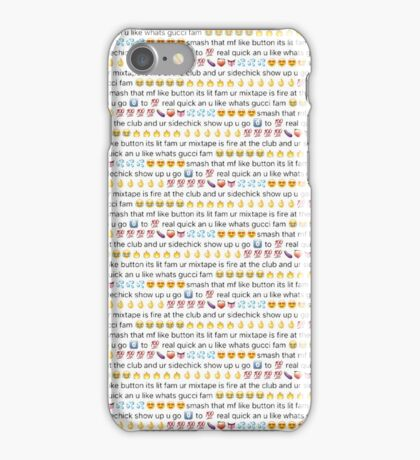 Smash That Mf Like Button! (transparent) iPhone Case/Skin