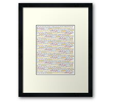 Smash That Mf Like Button! (transparent) Framed Print