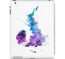 UK map in Watercolours iPad Case/Skin