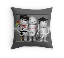 Cute Robot Trio -   Robo-x9  Throw Pillow