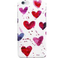 Hearts in Watercolour iPhone Case/Skin