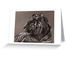 stripey sepia Greeting Card