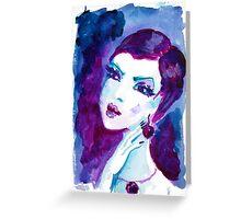 watercolour portrait iPhone case Greeting Card