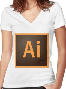 Illustrator Icon Women's Fitted V-Neck T-Shirt