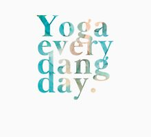 Yoga Every Dang Day in Turquoise and Peach Unisex T-Shirt