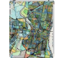Abstract Map of Philadelphia PA iPad Case/Skin