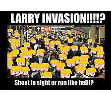 Larry Invasion! Photographic Print