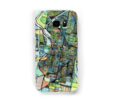Abstract Map of Philadelphia PA Samsung Galaxy Case/Skin