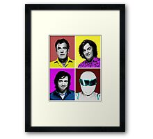 Top Gear Inspired Pop Art, All Personalities in One Framed Print