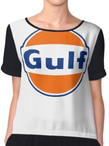 Gulf oil Chiffon Top