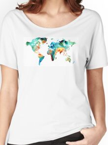 Map of The World 11 -Colorful Abstract Art Women's Relaxed Fit T-Shirt