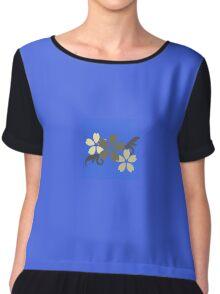 Beauty Blue floral Chiffon Top