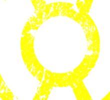 Yellow Lantern Symbol Sticker