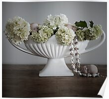 Vase with Flowers, Shells and Dolls Heads (Quite Contrary} Poster