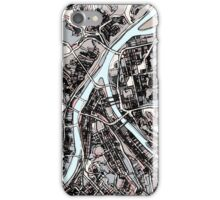 Abstract Map of Pittsburgh PA iPhone Case/Skin