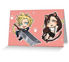 Final Fantasy VII Stickers Cloud and Tifa! Greeting Card