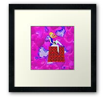 Teen with Laptop - laptop, etc. design Framed Print