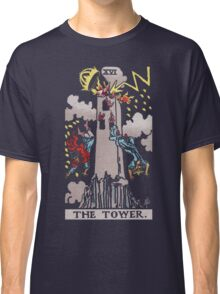 Tarot - The Tower (black tees only) Classic T-Shirt