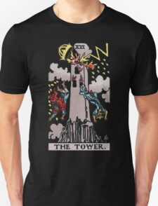 Tarot - The Tower (black tees only) T-Shirt