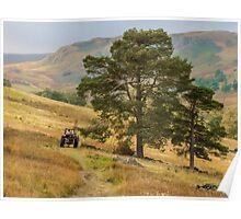 Autumn Hill Farming Poster