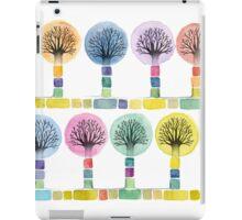 watercolor trees iPad Case/Skin