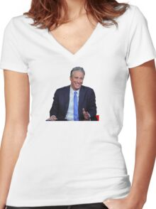 The Daily Show with Jon Stewart Women's Fitted V-Neck T-Shirt