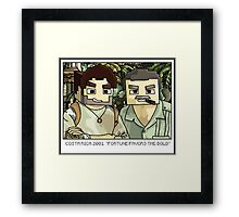 Minecraft Drake and Sully Selfie Framed Print