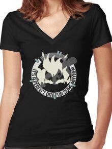 Perkran Women's Fitted V-Neck T-Shirt