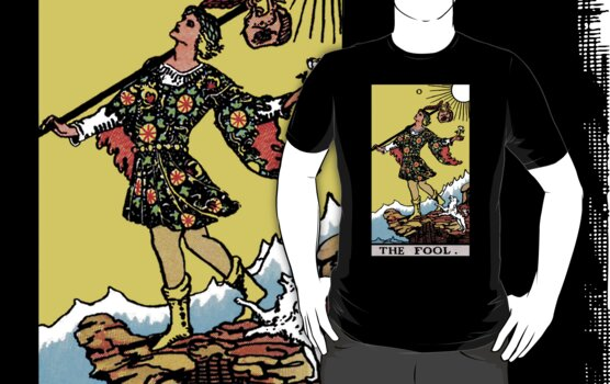 Tarot - The Fool (black tee only) by Beau Tobler