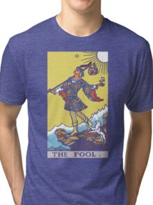 Tarot - The Fool (black tee only) Tri-blend T-Shirt