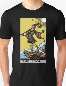 Tarot - The Fool (black tee only) Unisex T-Shirt