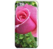 Beautiful pink rose bud iPhone Case/Skin