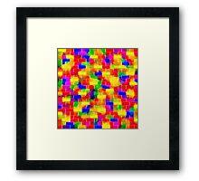 BRICK WALL SMUDGED (MultiBright)-(9000 x 9000 px) Framed Print