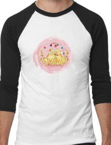 Love Cats Watercolor Men's Baseball ¾ T-Shirt