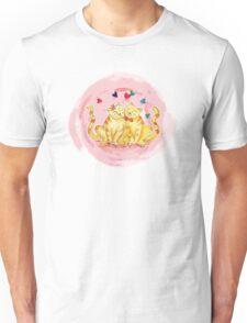 Love Cats Watercolor Unisex T-Shirt