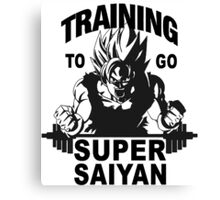 TRAINING GOKU SUPER SAIYAN - Baset of Dragon Ball Canvas Print