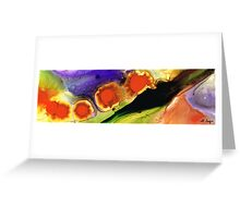 Five Truths Abstract Art by Sharon Cummings  Greeting Card