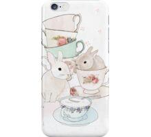 Bunnies and Tea iPhone Case/Skin